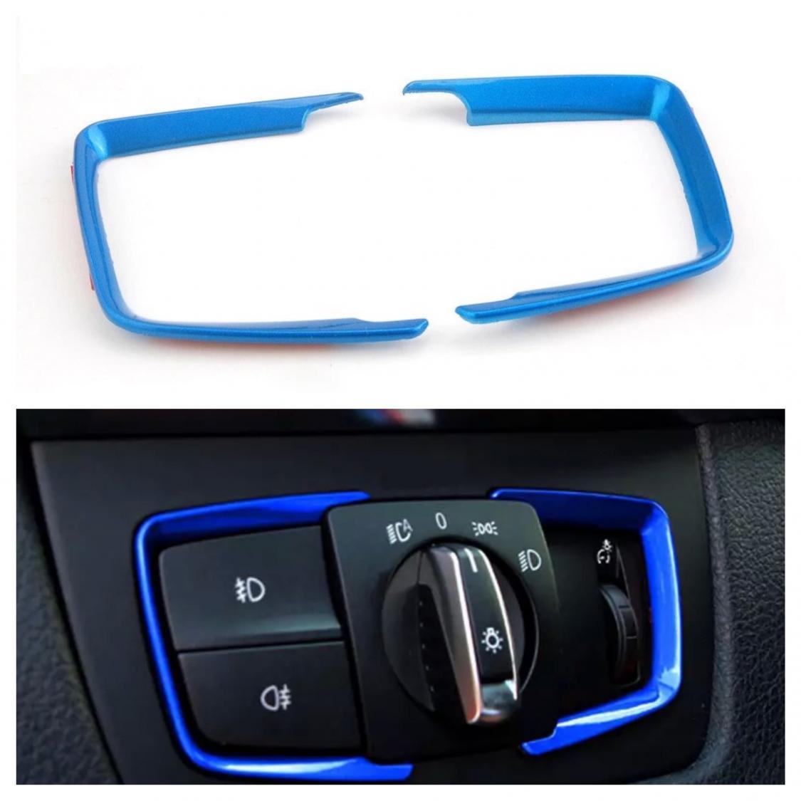 Lichtschalter Rahmen Blende ABS Blau Passend für BMW 3er F30 F31 F34 ...